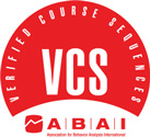 V C S Logo. Verified Course Sequences. A B A I, Association for Behavior Analysis International.